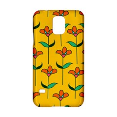 Small Flowers Pattern Floral Seamless Vector Samsung Galaxy S5 Hardshell Case