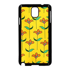 Small Flowers Pattern Floral Seamless Vector Samsung Galaxy Note 3 Neo Hardshell Case (black) by Simbadda