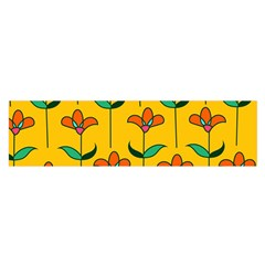 Small Flowers Pattern Floral Seamless Vector Satin Scarf (oblong)
