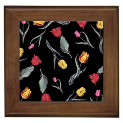 Colorful Tulip Wallpaper Pattern Background Pattern Wallpaper Framed Tiles by Simbadda