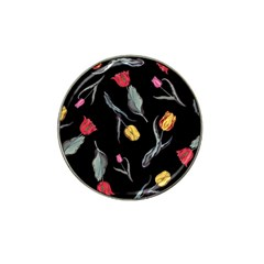 Colorful Tulip Wallpaper Pattern Background Pattern Wallpaper Hat Clip Ball Marker (10 Pack) by Simbadda