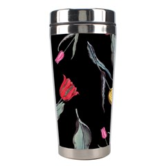Colorful Tulip Wallpaper Pattern Background Pattern Wallpaper Stainless Steel Travel Tumblers by Simbadda