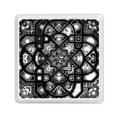 Geometric Line Art Background In Black And White Memory Card Reader (square)