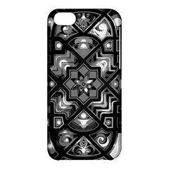 Geometric Line Art Background In Black And White Apple Iphone 5c Hardshell Case