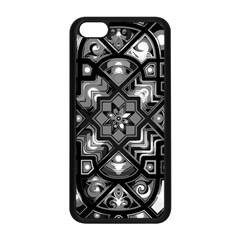 Geometric Line Art Background In Black And White Apple Iphone 5c Seamless Case (black)