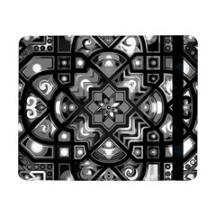 Geometric Line Art Background In Black And White Samsung Galaxy Tab Pro 8 4  Flip Case by Simbadda