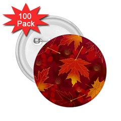 Autumn Leaves Fall Maple 2 25  Buttons (100 Pack)