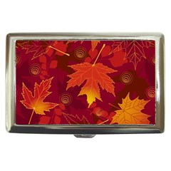 Autumn Leaves Fall Maple Cigarette Money Cases by Simbadda
