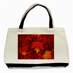 Autumn Leaves Fall Maple Basic Tote Bag by Simbadda