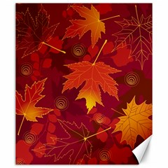 Autumn Leaves Fall Maple Canvas 20  X 24   by Simbadda