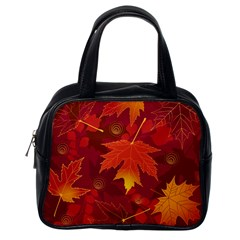 Autumn Leaves Fall Maple Classic Handbags (one Side)