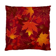 Autumn Leaves Fall Maple Standard Cushion Case (one Side) by Simbadda