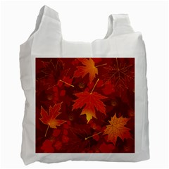 Autumn Leaves Fall Maple Recycle Bag (two Side)  by Simbadda