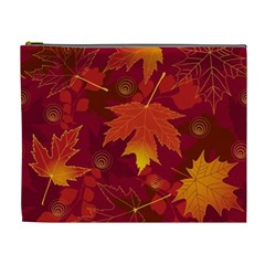 Autumn Leaves Fall Maple Cosmetic Bag (xl) by Simbadda