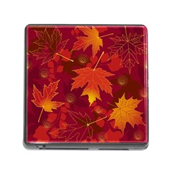 Autumn Leaves Fall Maple Memory Card Reader (square) by Simbadda