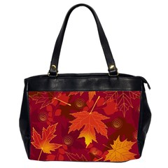 Autumn Leaves Fall Maple Office Handbags (2 Sides)  by Simbadda