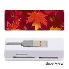 Autumn Leaves Fall Maple Memory Card Reader (stick)  by Simbadda