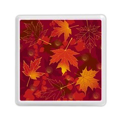 Autumn Leaves Fall Maple Memory Card Reader (square)