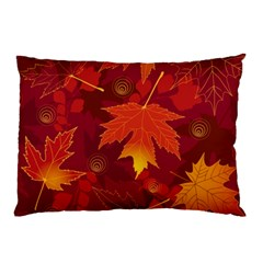 Autumn Leaves Fall Maple Pillow Case (two Sides) by Simbadda