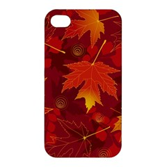 Autumn Leaves Fall Maple Apple Iphone 4/4s Hardshell Case by Simbadda
