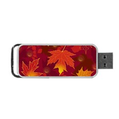 Autumn Leaves Fall Maple Portable Usb Flash (one Side) by Simbadda