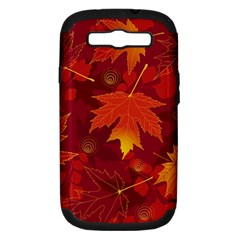 Autumn Leaves Fall Maple Samsung Galaxy S Iii Hardshell Case (pc+silicone) by Simbadda