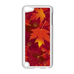 Autumn Leaves Fall Maple Apple Ipod Touch 5 Case (white) by Simbadda