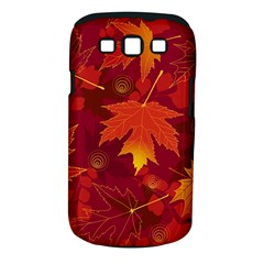 Autumn Leaves Fall Maple Samsung Galaxy S Iii Classic Hardshell Case (pc+silicone) by Simbadda