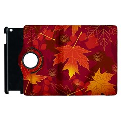 Autumn Leaves Fall Maple Apple Ipad 2 Flip 360 Case by Simbadda