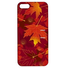 Autumn Leaves Fall Maple Apple Iphone 5 Hardshell Case With Stand by Simbadda