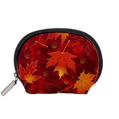 Autumn Leaves Fall Maple Accessory Pouches (small)  by Simbadda