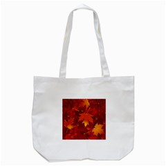 Autumn Leaves Fall Maple Tote Bag (white) by Simbadda