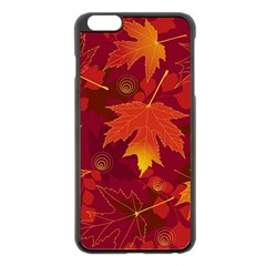 Autumn Leaves Fall Maple Apple Iphone 6 Plus/6s Plus Black Enamel Case by Simbadda