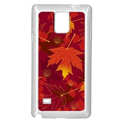 Autumn Leaves Fall Maple Samsung Galaxy Note 4 Case (white) by Simbadda