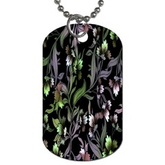 Floral Pattern Background Dog Tag (one Side) by Simbadda