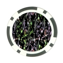 Floral Pattern Background Poker Chip Card Guard by Simbadda