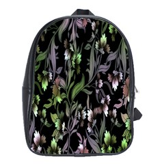 Floral Pattern Background School Bags (xl)  by Simbadda