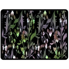 Floral Pattern Background Double Sided Fleece Blanket (large)  by Simbadda