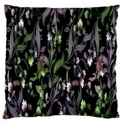 Floral Pattern Background Large Flano Cushion Case (one Side) by Simbadda