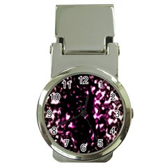 Background Structure Magenta Brown Money Clip Watches by Simbadda
