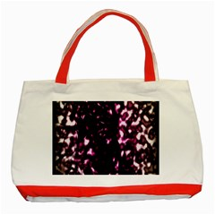 Background Structure Magenta Brown Classic Tote Bag (red) by Simbadda