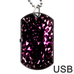 Background Structure Magenta Brown Dog Tag Usb Flash (one Side) by Simbadda