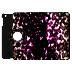 Background Structure Magenta Brown Apple Ipad Mini Flip 360 Case by Simbadda