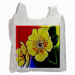 Beautiful Fractal Flower In 3d Glass Frame Recycle Bag (two Side)