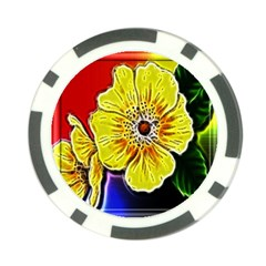 Beautiful Fractal Flower In 3d Glass Frame Poker Chip Card Guard (10 Pack) by Simbadda