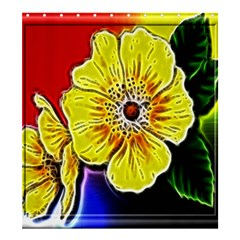 Beautiful Fractal Flower In 3d Glass Frame Shower Curtain 66  X 72  (large)  by Simbadda