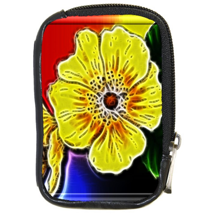 Beautiful Fractal Flower In 3d Glass Frame Compact Camera Cases