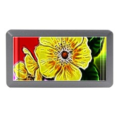 Beautiful Fractal Flower In 3d Glass Frame Memory Card Reader (mini) by Simbadda