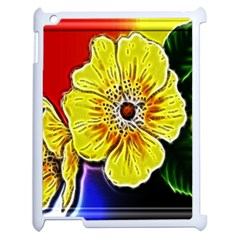 Beautiful Fractal Flower In 3d Glass Frame Apple Ipad 2 Case (white) by Simbadda