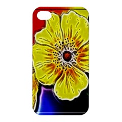 Beautiful Fractal Flower In 3d Glass Frame Apple Iphone 4/4s Premium Hardshell Case by Simbadda